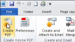Creating a PDF from a MS Office application (Windows)